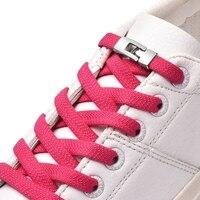 Nouveau 1 seconde lacets élastiques rapides lacets de chaussures plates pas de cravate croix boucle serrure lacet enfants adultes loisirs baskets lacets paresseux