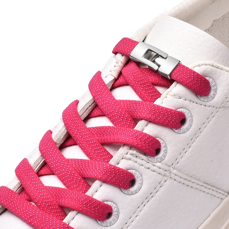 New 1 Second Quick Elastic Shoelaces Flat Shoe Laces No Tie Cross Buckle Lock Shoelace Kids Adult Leisure Sneakers Lazy Laces