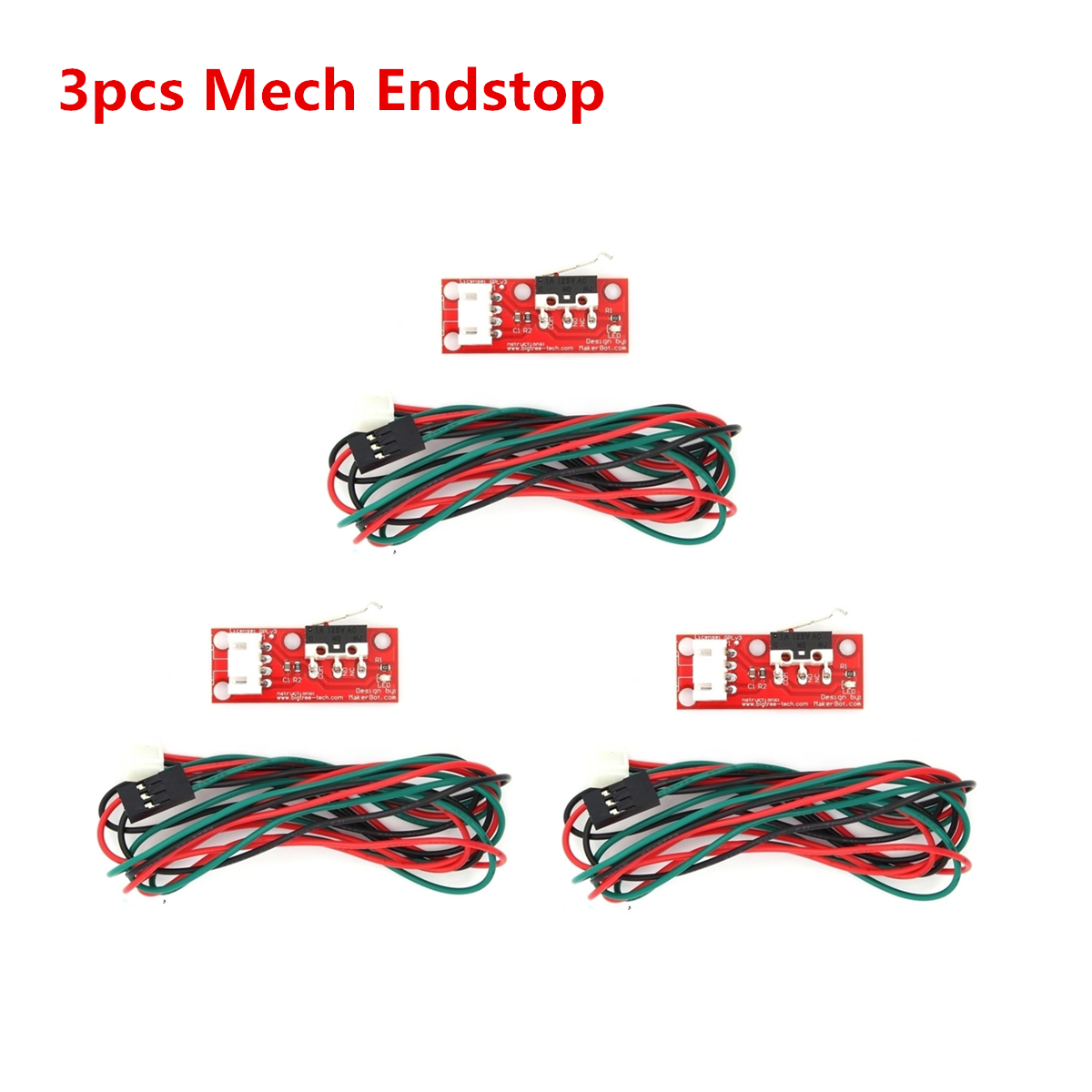 3Pcs 3D Printer parts Kossel Limit Switches Endstop with 3-feet Cable