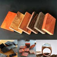6pcs/set Resin Epoxy Art Craft Sandalwood Natural Unfinished Wood Pendant Jewelry Making DIY crystal epoxy material wood ring