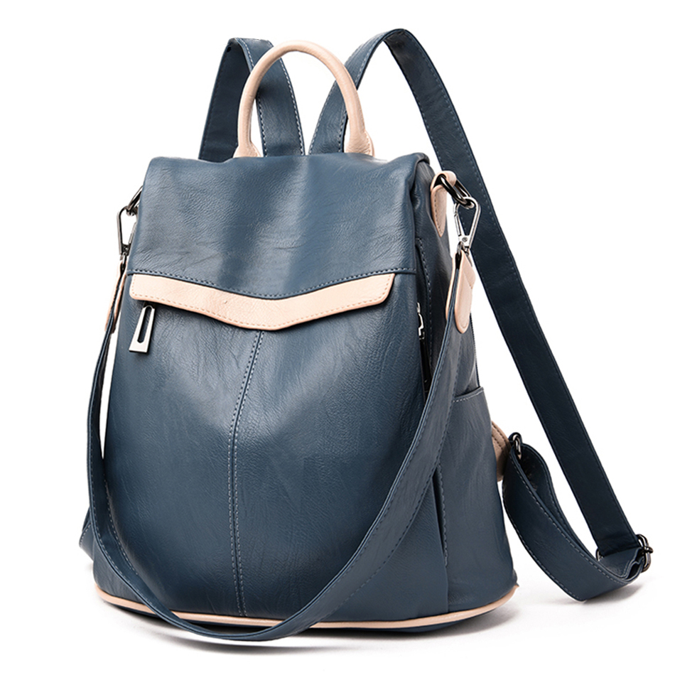 Women's Backpack for School Sac A Dos Female Shoulder Bags for Women  Wide Canvas Strap Backpack for Teenage Girls Mochilas 2019