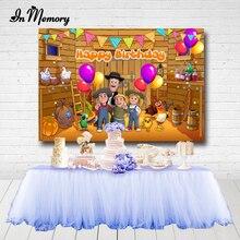 Arrière plan De photographie personnalisé pour garçons, 6 Options, arrière plan De photographie De ferme pour fête prénatale anniversaire