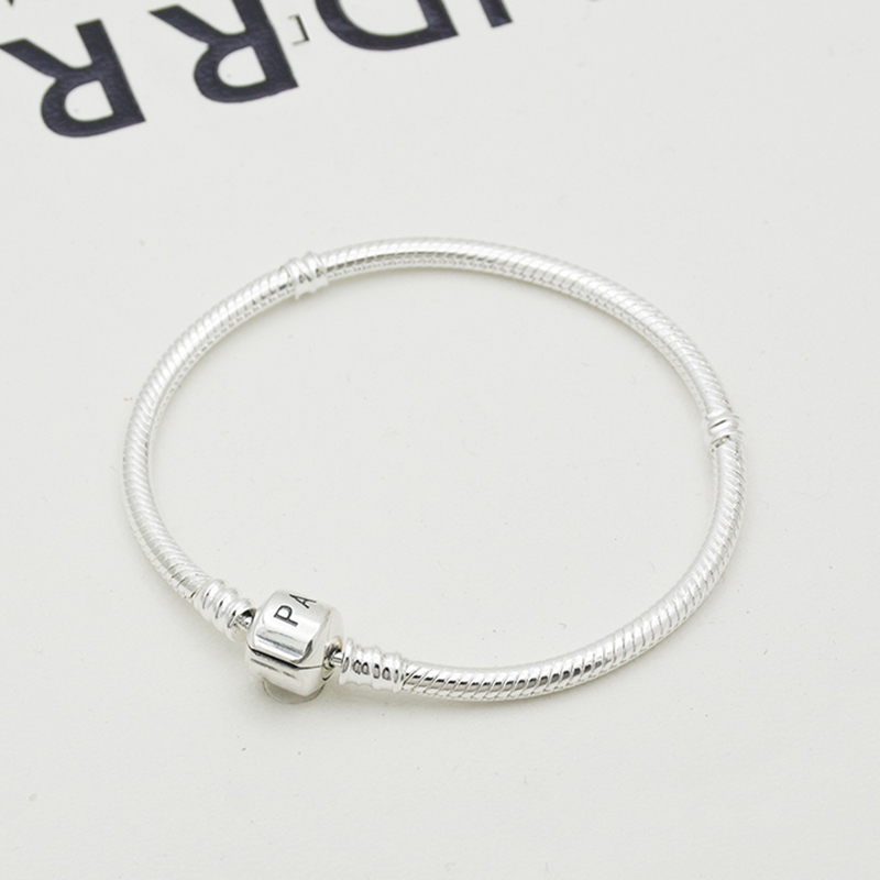 basic chain pan DIY bracelet silver color silver plate serpentine high density snake  chain