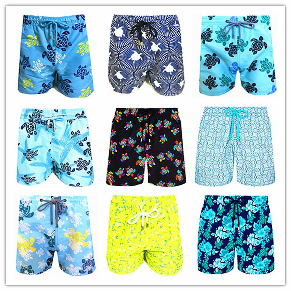 2020 marke Brevile pullquin Strand Board Shorts Männer Turtles Bademode 100% Quick Dry Bermuda Herren Bade Shorts Sexy Boardshorts