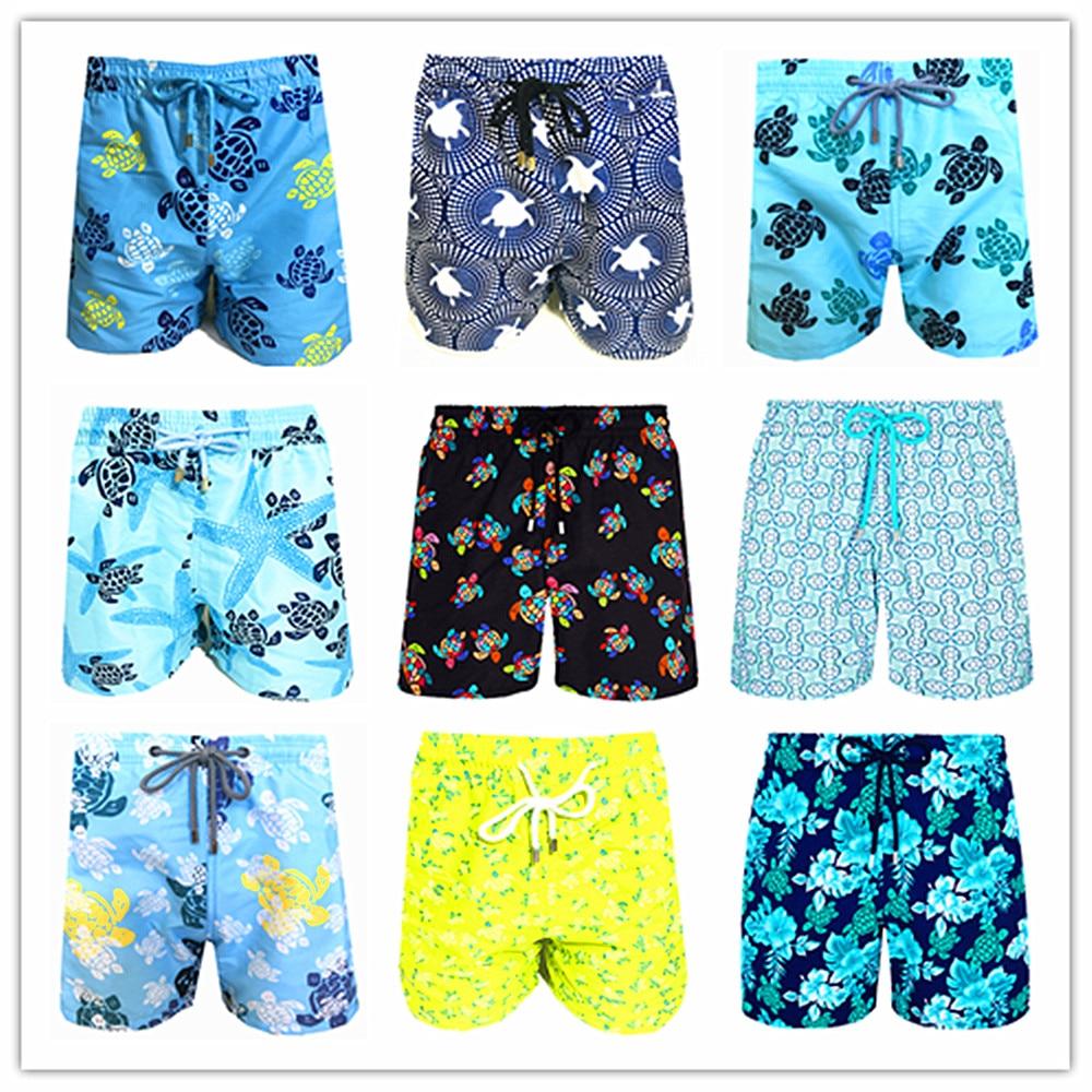 2020 Brand Brevile Pullquin Beach Board Shorts Men Turtles Swimwear 100% Quick Dry Bermuda Mens Bathing Shorts Sexy Boardshorts