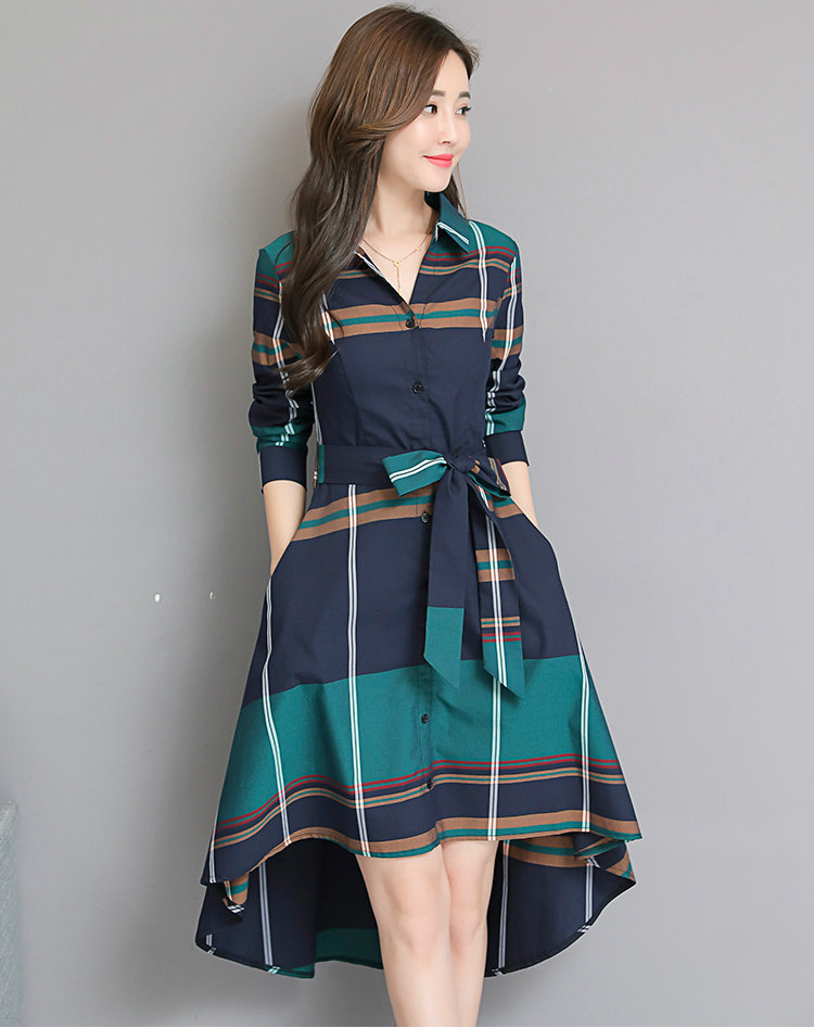 Autumn Winter Vintage Plaid Dress