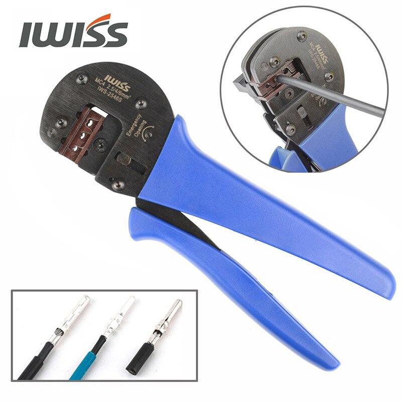 Range 4 4  10AWG Plier 6mm2 IWISS IWS With Tools 14 Crimping Solar Crimp 5 2 Locator Crimper MC3 2546S  Hand