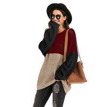 Тонкий свитер большого размера Женская свободная весенняя одежда