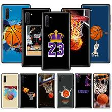 phone case for for samsung note 10 9 8 3 plus lite cases silicon soft tpu coque for samsung galaxy m30s m30 m20 m10 m40 covers Basketball Print Phone Case For Samsung Galaxy Note 10 Plus 5G 8 9 10 Lite M10 M20 M30 M40 M11 M21 M31 M51 Soft TPU Back Cover