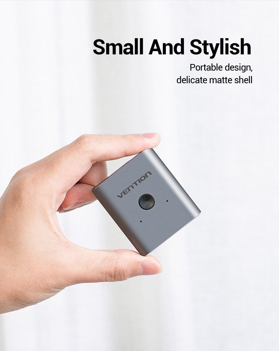 4K HDMI Switch 2 Ports Bi-directional 1x2 / 2x1 HDMI Switcher Splitter Supports H2e4fc05357e24d318ef6a9f8a6ef3b17F
