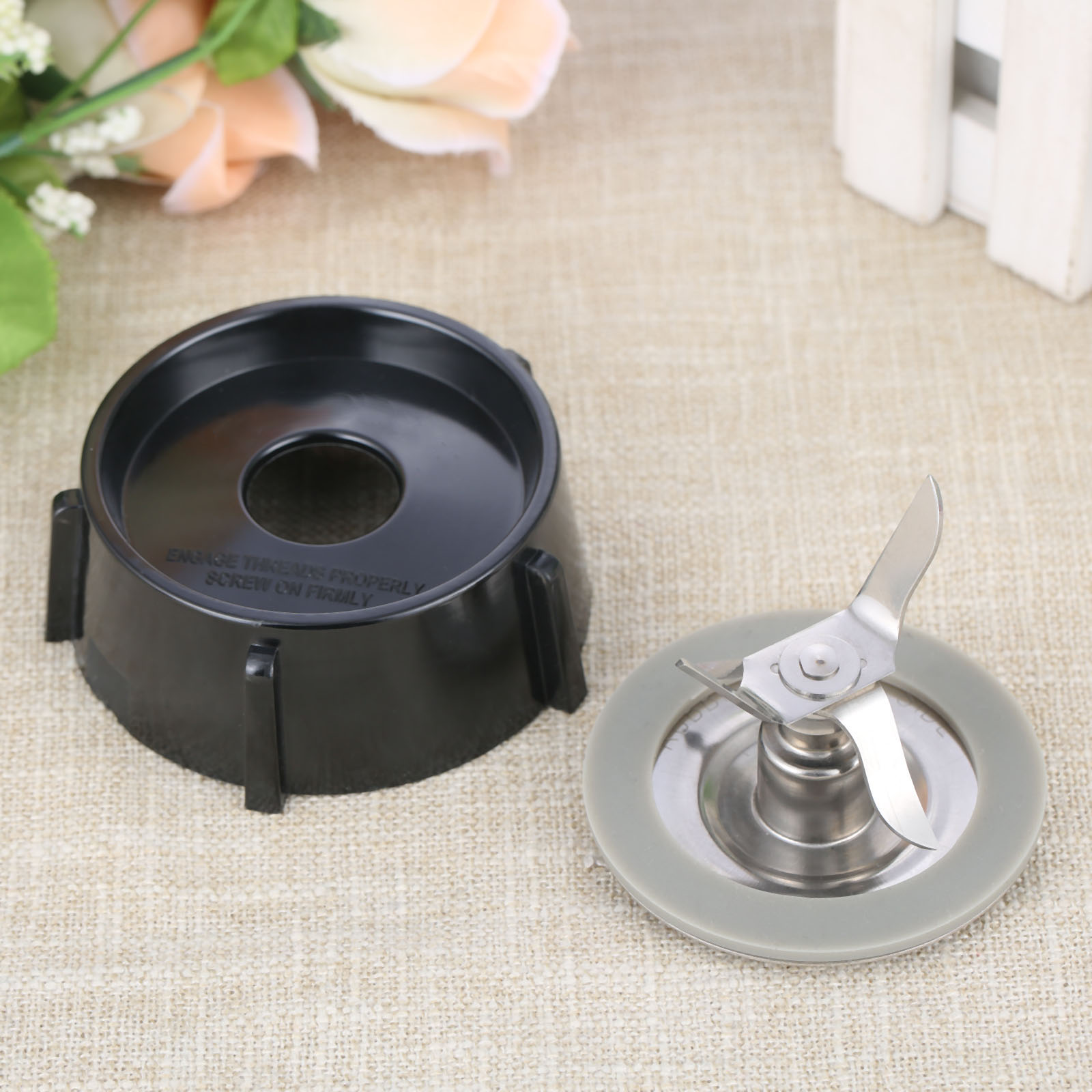 Bottom Jar Base With Cap Gasket Seal Ring For Blender Replacement Part Juicer Spare Assembly Kitchen Appliance Parts OD78mm