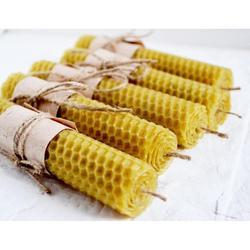 Свечи ручные из вощины с целебным и или ароматическим травяным сбором
