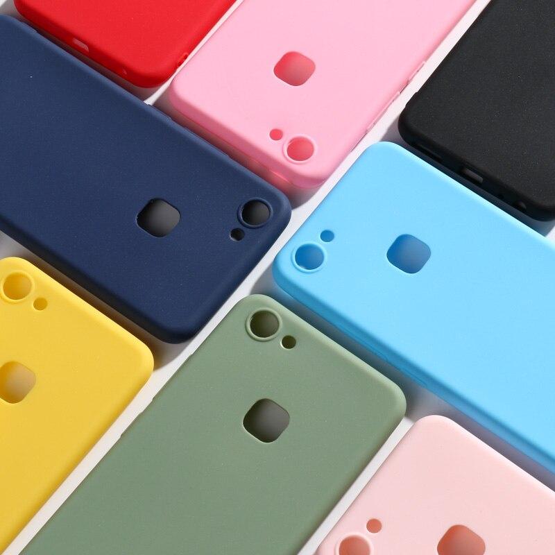 Candy Color Case For Vivo Y11 2019 Z5X Soft TPU Back Coque Phone Covers For Vivo V15 Pro IQOO NEO V11 V11i Cases Bumper