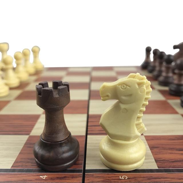 Jeu de société magnétique International, jeu d'échecs exquis, pliable en plastique, cadeau et divertissement 1