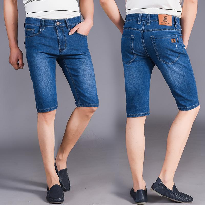 2019 Summer Men'S Wear MEN'S Jeans Shorts Business Casual Straight-Cut Men's Cowboy Capri
