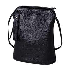 Bolsa carteiro de couro legítimo com borlas, bolsa feminina de luxo feita em couro legítimo com alça carteiro
