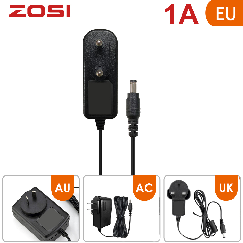 ZOSI DC 12V 1A AC AU EU UK CCTV Video Power Supply Adapter Charger For BNC Outdoor Security Camera Video Surveillance System