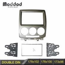 цена на 2 Din CD DVD Stereo Panel for FORD i-Max 2007+ MAZDA 5 Premacy 2005+ Fascia Radio Refitting Dash Mount Install Kit Face Plate