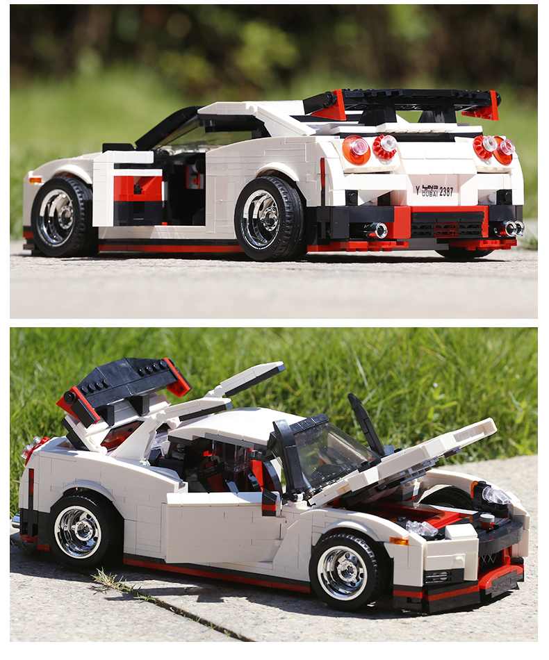 MOULD KING Compatible 13104 Technic Nismo Nissan GTR R35 Speed Racing Sport Car Building Block(1024PCS) 6