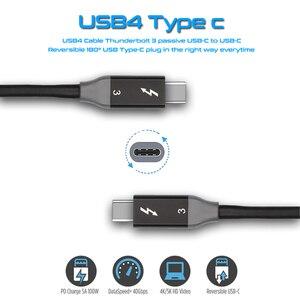 Image 2 - Thunderbolt 3 cabo 40 gbps pd 5a 100 w carregamento rápido usb c para c displayport 4 k 5 k hd para mackbook pro cabo de carregador de ar imac USB C
