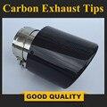 Бесплатная доставка: 1X Универсальный 114 автомобильный Стайлинг из углеродного волокна + нержавеющая сталь Глушитель для BMW