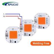 COB рост светодиодный чип полный спектр светодиодный светильник для выращивания света 50 Вт 70 Вт 100 Вт сварочный Бесплатный Фито лампа для растений комнатный гроутент Fitolampy