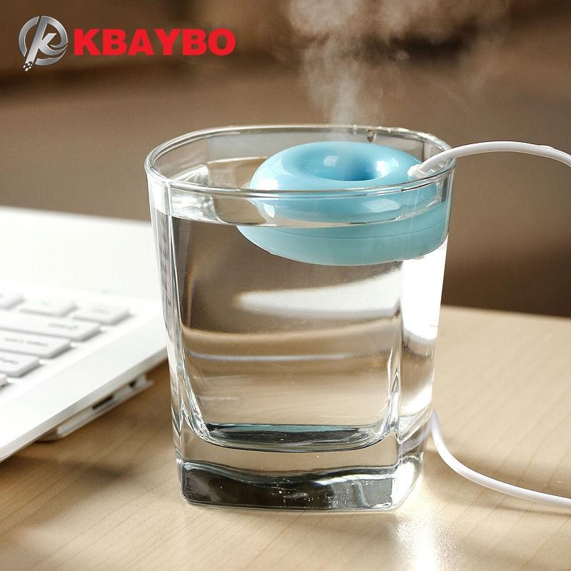KBAYBO USB Mini Air Diffuser Air Humidifier Aroma Diffuser Steam Donuts Purifier Portable For Office Home