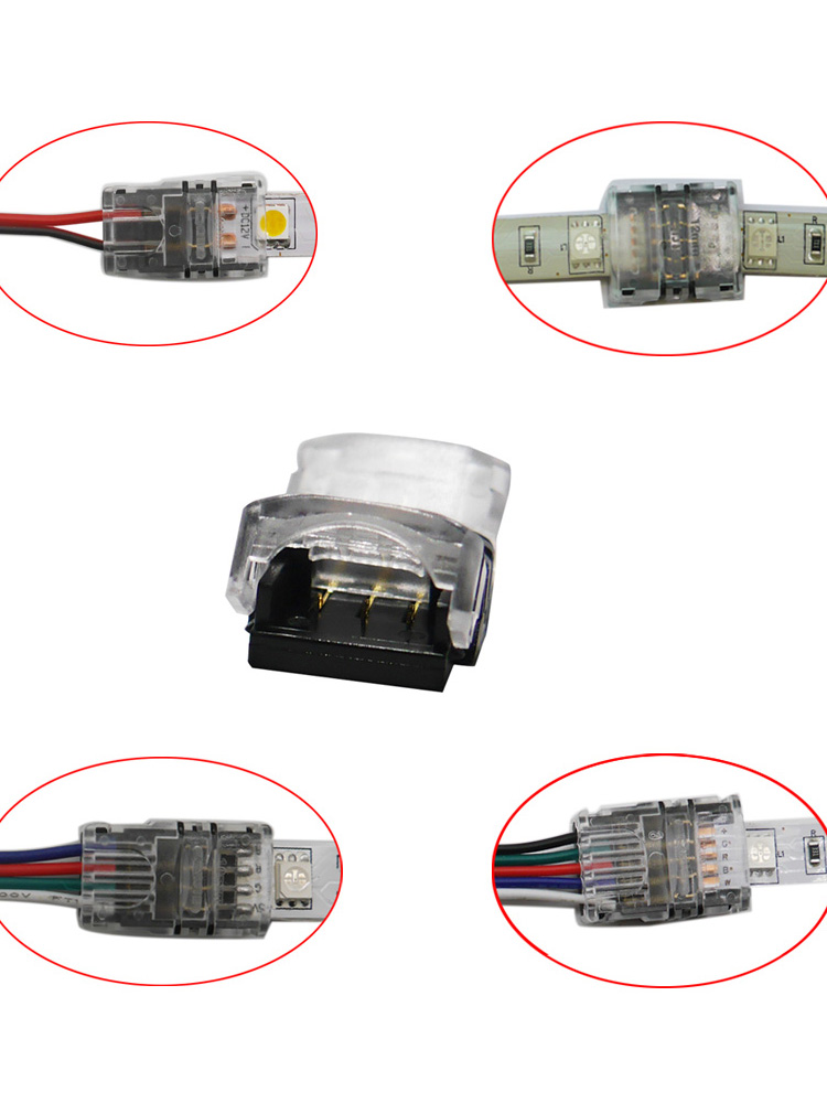 Led-Strip-Connector Connection-Use 4pin Terminals 5pin 3pin for 3528 5050 5pcs/Lot 2pin