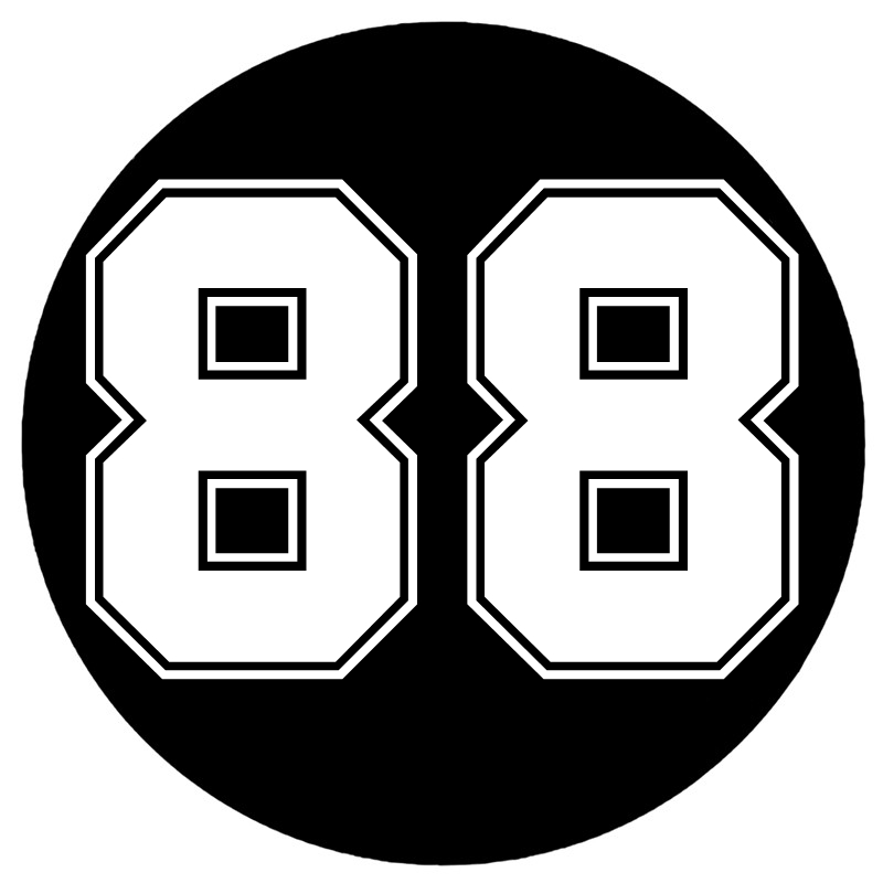 CS-10217 # عدد 88 مضحك الفينيل سيارة ملصق عاكس مقاوم للماء سيارة ملصقات مصورة على شاحنة الوفير النافذة الخلفية