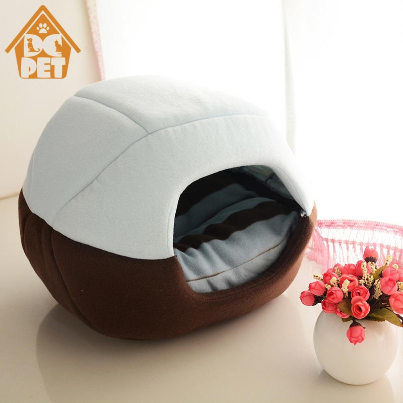 2 Uses Foldable Soft Warm Pet Cat Bed Dog Bed For Dogs Cave Puppy Sleeping Mat Pad Nest Blanket Pet Beds For Cats Bed House Cat