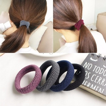 Fashion Elastic Hair Band for Women Solid Simple Rubber Girls Thick Ring Highly Stretchable Accessories - discount item  34% OFF Headwear