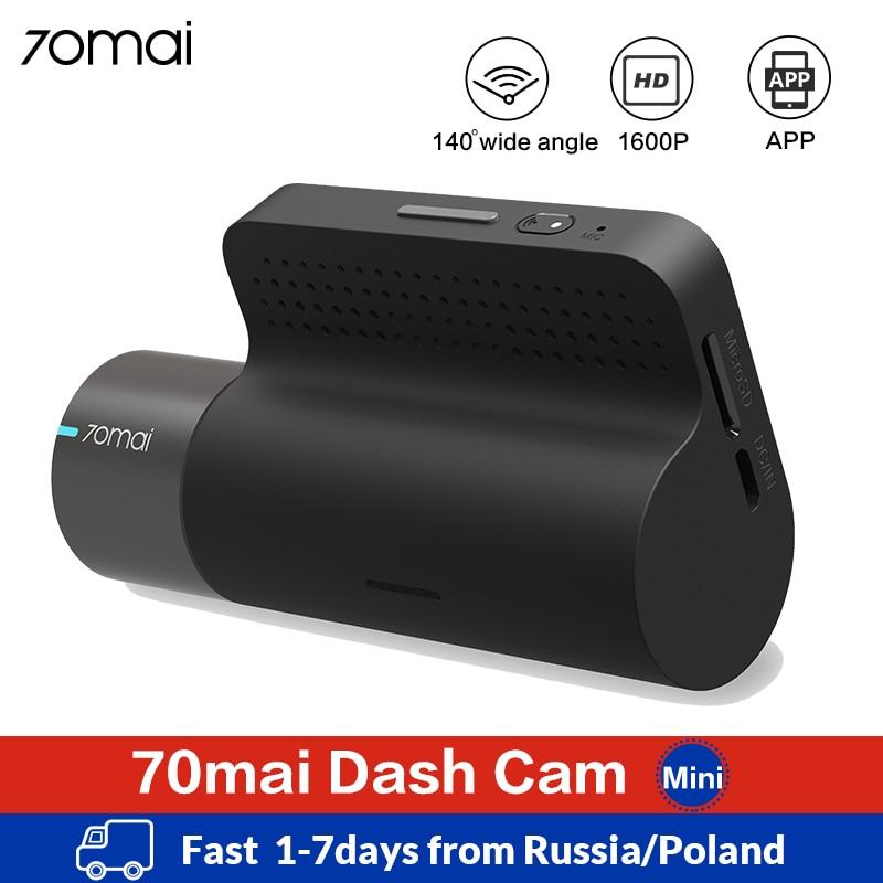Xiaomi 70mai Mini Smart Dash Cam Wifi Car DVR Dash Camera 1600P HD Night Vision G sensor APP 70 Mai Dashcam Auto Video Recorder