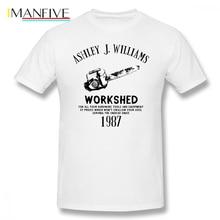Ash Vs Evil Dead T Shirt S Chainsaw T-Shirt Basic Short Sleeves Tee Plus size  Male Tshirt 4XL