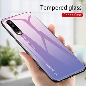 Image 4 - Coque de téléphone en verre trempé dégradé pour Huawei Mate 30 Pro Honor 8X P30 Lite P20 P 20 Smart Plus Nova 3i 3e 3 Coque du boîtier