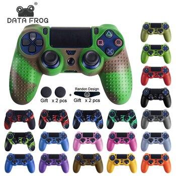 Funda protectora de silicona antideslizante de datos Frog para SONY Playstation 4 PS4 Controller funda de goma para PS4 Pro Delgado Gamepad