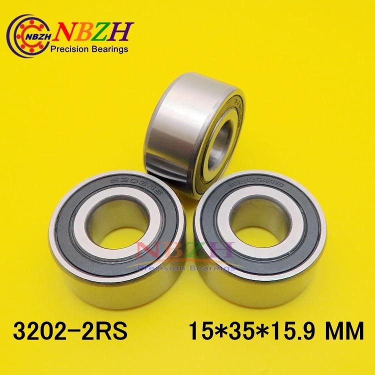 5202 2RS Подшипник 15x35x15,9 мм осевой двухрядный угловой контакт 5202RS 3202 2RS 3056202 шарикоподшипники