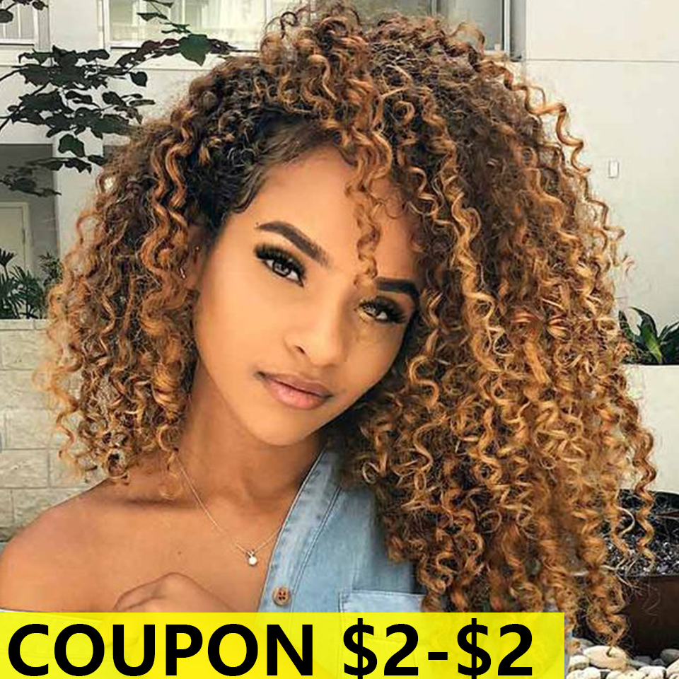 Bella Wig Curly Synthetic Lace Front Wig Curly Hair 6 Colors Available Middle Part Mixed Brown And Ombre Cosplay Wigs For Women