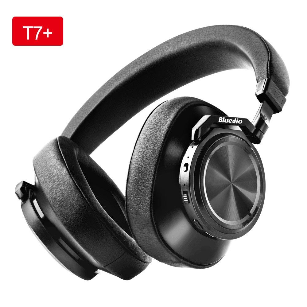 Bluedio T7 + наушники Bluetooth опеределяемый пользователем активный Шум шумоподавления Беспроводной гарнитура с Microp для телефона Поддержка SD слот ...
