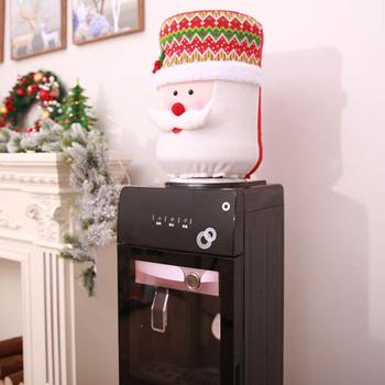Boże narodzenie dozownik do wody o pojemności 5 galonów pokrowiec na termofor Santa Elk Snowman dekoracja kuchenna w domu AUG889 tanie i dobre opinie 219302 Nowoczesne Tkaniny