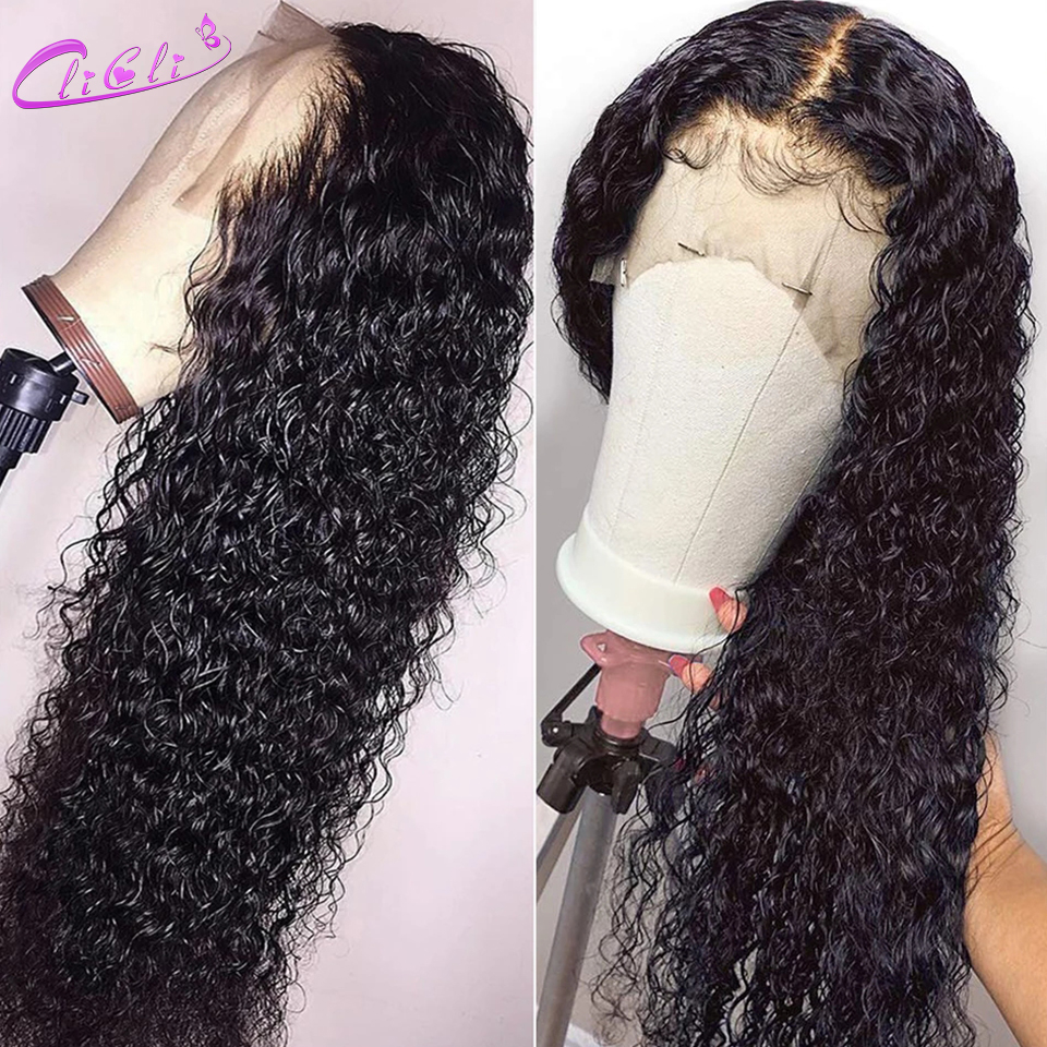 Curly Lace Front Human Hair Wigs 30 Inch Curly Lace Front Wigs Remy Brazilian Pre Plucked 13X4 Lace Wigs For Black Women 150%