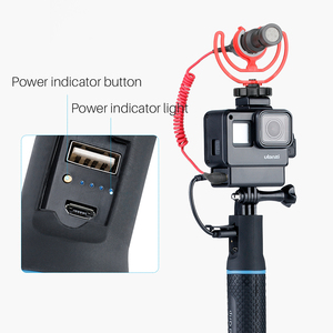 Image 2 - Sports Camera Power Bank Hand Grip Monopod For GoPro Hero 9 8 7 Sjcam Yi EKEN DJI Osmo Action Pocket 2 Extension Charger Handle