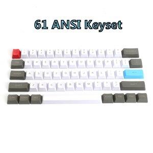 Image 2 - 61 clés ANSI mise en page OEM profil PBT touches épaisses pour 60% clavier mécanique pour Cherry MX commutateurs clavier de jeu Keycap seulement