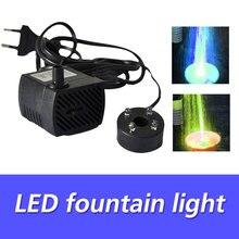 Basen z fontanną światła LED basen światła basen z fontanną lampa moda kolorowe pompy wody elektryczne zatapialne 4LED ślub staw ryb