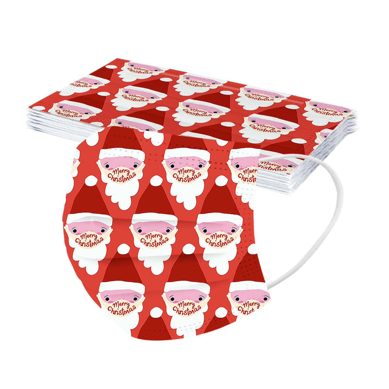 Рождественская одежда для детей с принтом одноразовая маска 3Ply петли уха 10 ПК маска для лица из нетканого материала анти-спрей защитный ...