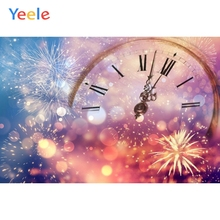 Yeele Christmas Backdrop Winter Snow New Year Fireworks Light Bokeh Photo Background For Photo Booth Photophone Baby Photocall kate blue snow photo backdrop christmas with trees bokeh light backdrops fotografia washable and seamless baby shower backdrop