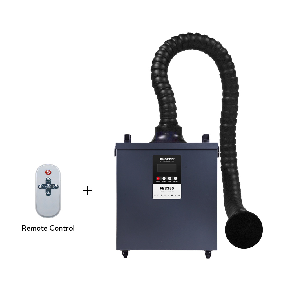 350W  Fume Professional Odor Remove Cutting And Laser Filter KNOKOO Carbon  Extractor Activated Smoke