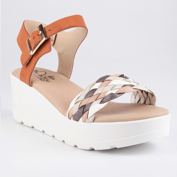 MISS DESIRE'E Sandals with cross band and wedge-multi