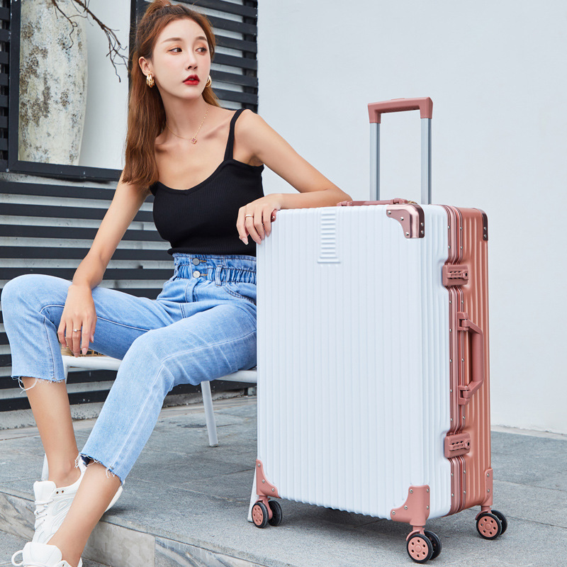 Aluminum Frame Travel Trolley Customizable Universal Wheel Boarding Bag Luggage A Generation Of Fat Password Suitcase Business L