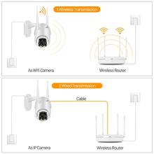 1080P Cloud Wifi PTZ Camera Outdoor 2MP Auto Tracking Home Security IP Camera 4X Digital Zoom Speed Dome Camera with Siren Light