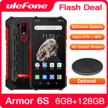 Ulefone Armor 6S Waterproof IP68 NFC Rugged Mobile Phone Helio P70 Otca core Android 9.0 6GB+128GB Smartphone Global version